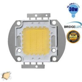 Υψηλής Ισχύος COB LED BRIDGELUX 30W 32V 2850lm Θερμό Λευκό 3000k GloboStar 46304