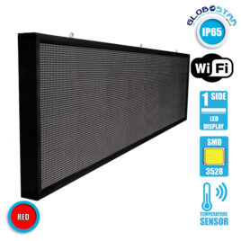 Αδιάβροχη Κυλιόμενη Επιγραφή SMD LED 230V USB & WiFi Κόκκινη Μονής Όψης 264x72cm GloboStar 90115