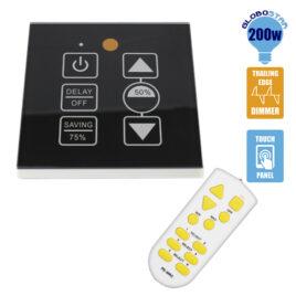 Dimmer Touch για LED 220 Volt 200 Watt Trailing Edge Ασύρματο Μαύρο GloboStar 50040