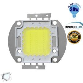 Υψηλής Ισχύος COB LED BRIDGELUX 30W 32V 3000lm Ψυχρό Λευκό 6000k GloboStar 46301