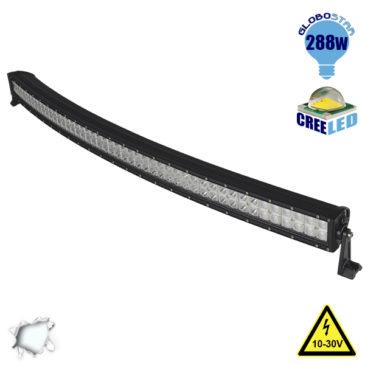 Μπάρα LED Curved CREE Combo 288W 10-30V 40320lm 30° & 60° Αδιάβροχη IP65 Ψυχρό Λευκό 6000k GloboStar 05192