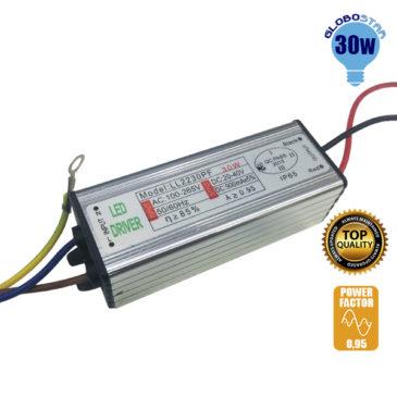 Μετασχηματιστής Προβολέα LED 30W IN 230V OUT 24-36V 0.95PF GloboStar 47854