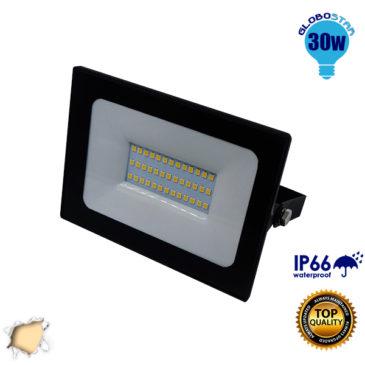Προβολέας LED Slim Pad 30W 230v 2700lm 120° Αδιάβροχος IP66 Θερμό Λευκό 3000k GloboStar 11116