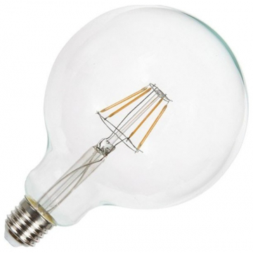 LED Λάμπα Ε27 4W (G125) Σφαιρική Filament Retro Look Edison Dimmable (4399)