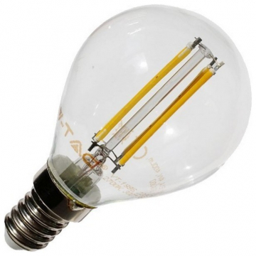 LED V-TAC Λαμπα E14 4W (P45) Crystal Retro Look Edison Dimmable (4394)