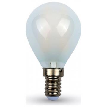 LED V-TAC Λάμπα Ε14 4W Cross  Filament P45 Frost Cover Ψυχρό Λευκό 6400Κ 44941 (44941)
