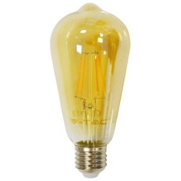 LED V-TAC Λάμπα Ε27 6W  Retro Look Filament Amber Cover 4362 (4362)