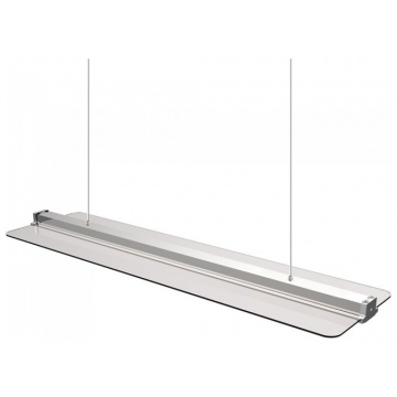 LED Φωτιστικό Πάνελ Κρεμαστό Διάφανο 120cm x 30cm 40W Φώς Ημέρας 4000Κ 6458 (6458)
