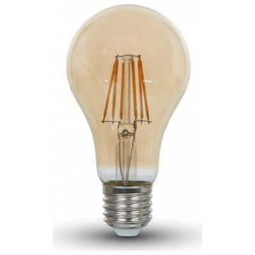 LED V-TAC Λάμπα 10W  Filament E27 A67 Amber Cover Θερμό Λευκό 2200Κ 7157 (7157)
