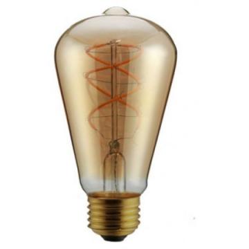 LED V-TAC Λάμπα 5W Filament E27 ST64 Amber Γυαλί Θερμό Λευκό 2200Κ Dimmable 7416 (7416)