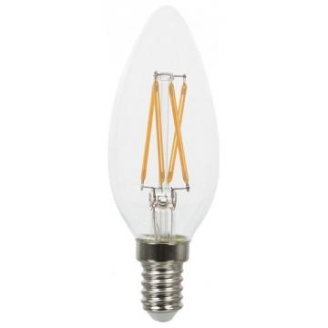 LED V-TAC Λάμπα E14 4W Κεράκι Filament Διάφανο SAMSUNG CHIP Θερμό Λευκό (272)