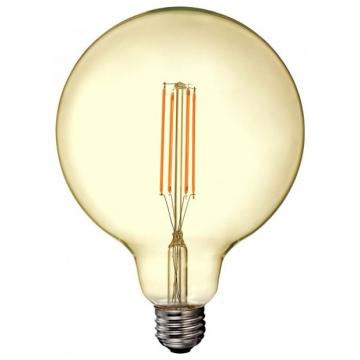 LED V-TAC Λάμπα Ε27 12.5W Filament Σφαιρική G125 Amber Θερμό 2200K sku7456 (7456)