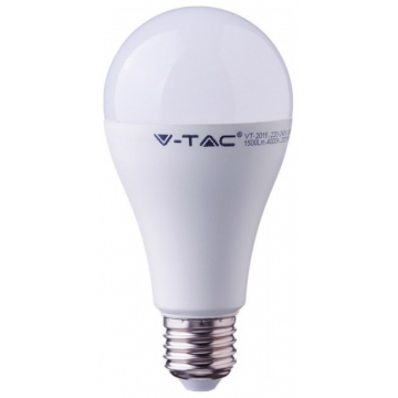 LED V-TAC Λάμπα E27 15W A65 Thermoplastic Ψυχρό Λευκό (4455-5)