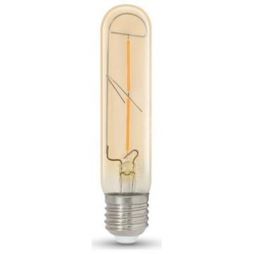 LED V-TAC Λάμπα Ε27 2W Filament T30 Amber Γυαλί Θερμό Λευκό 7252 (7252)