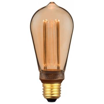 LED V-TAC Λάμπα Ε27 4W ART Filament ST64 Amber Θερμό 1800K±200K sku7474 (7474)