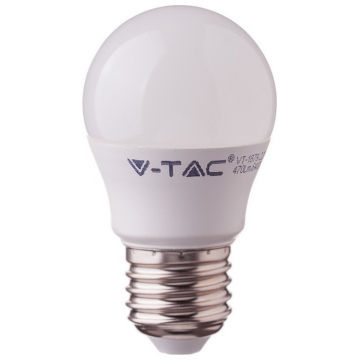 LED V-TAC Λάμπα Ε27 5.5W (G45) CRI 95+ Θερμό Λευκό 2700Κ 7491 (7491)