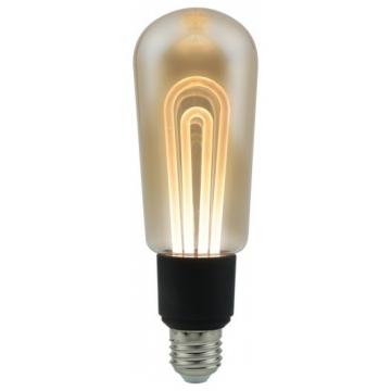 LED V-TAC Λάμπα Ε27 5W Filament Vintage T60 Amber Θερμό 2200K 2749 (2749)