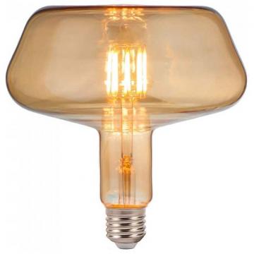 LED V-TAC Λάμπα Ε27 8W Filament T180 Amber Glass Θερμό 2200K  2790 (2790)