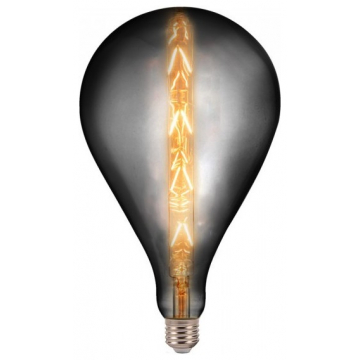 LED V-TAC Λάμπα Ε27 8W Special Filament G165 Smoky Γυαλί Θερμό Dimmable 45651 (45651)