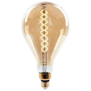 LED V-TAC Λάμπα Ε27 8W Special spiral Filament A165 Amber Θερμό Dimmable 7461 (7461)