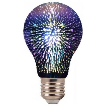 LED V-TAC Λάμπα E27 Filament 3D 3W A60  Θερμό Λευκό 2704 (2704)