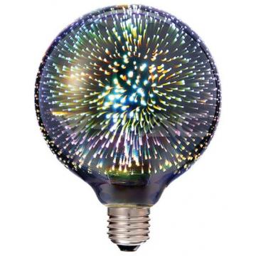 LED V-TAC Λάμπα E27 Filament 3D 3W Σφαιρική G125  Θερμό Λευκό 2706 (2706)