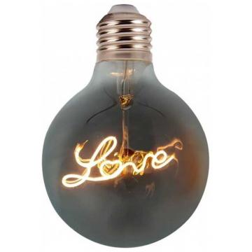 LED V-TAC Λάμπα E27 Special Filament (LOVE) 5W Σφαιρική G125  Amber Θερμό Λευκό 2200K sku2700 (2700)