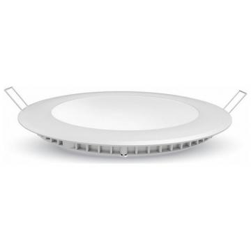 LED V-TAC mini Πάνελ Χωνευτό 12W Premium SAMSUNG Chip Στρογγυλό Φως Ημέρας 713 (713)
