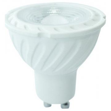 LED VTAC Spot GU10 6.5W SAMSUNG CHIP Plastic 38°  Ψυχρό Λευκό (191)