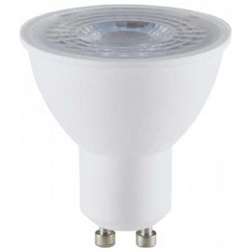 LED VTAC Spot GU10 8W SAMSUNG CHIP Plastic Με Φακό 38° Ψυχρό Λευκό (877)