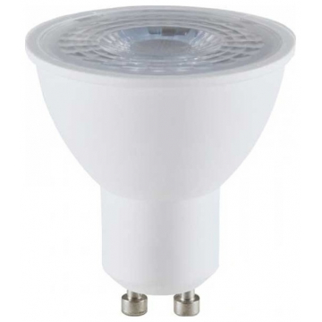 LED VTAC Spot GU10 8W SAMSUNG CHIP Plastic Με Φακό 38° Θερμό Λευκό (875)