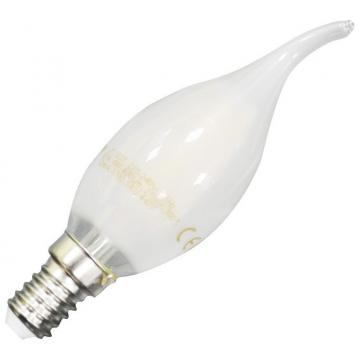 LED V-TAC Λάμπα Filament E14 Κεράκι 4W White Cover Σχήμα Φλόγας Θερμό Λευκό (71041)