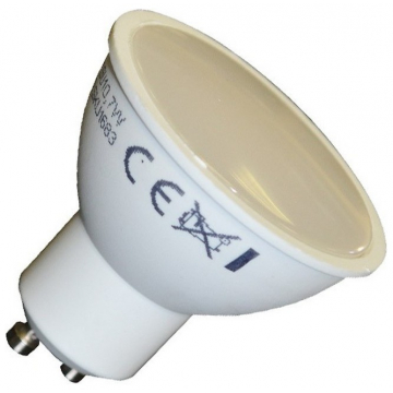 LED Σποτ VTAC GU10 7W SMD Plastic110° Φώς ημέρας (1683)