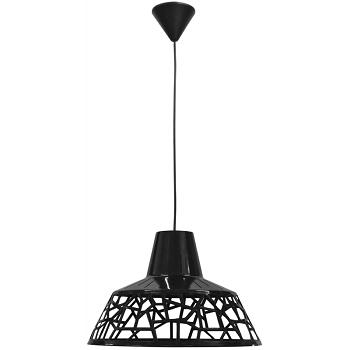 Μονόφωτο φωτιστικό πλαστικό μαύρο (35-0001)