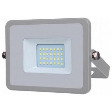 V-TAC LED Προβολέας SAMSUNG CHIP SMD Α++ 20W Γκρι Ψυχρό Λευκό 5 Χρόνια Εγγύηση 447