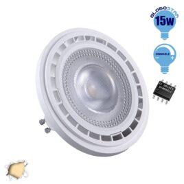 Λάμπα LED AR111 GU10 Σποτ 15W 230V 1460lm 12° Θερμό Λευκό 3000k Dimmable GloboStar 01771