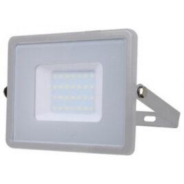 V-TAC LED Προβολέας SAMSUNG CHIP SMD 30W Σώμα Γκρι Θερμό Λευκό  Α++ 5 Χρονια Εγγύηση 454