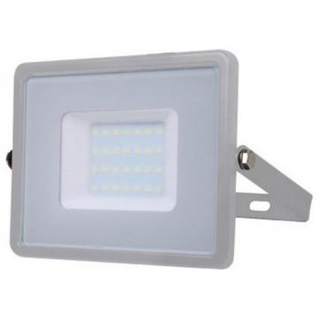 V-TAC LED Προβολέας SAMSUNG CHIP SMD 30W Σώμα Γκρι Ψυχρό Λευκό  Α++ 5 Χρόνια Εγγύηση 456