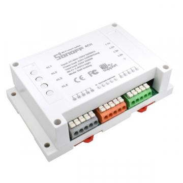 SONOFF 4 Channel Smart Home Switch WiFi – Ασύρματος Έξυπνος Διακόπτης Ράγας με 4 Κανάλια GloboStar 48452 (48452)