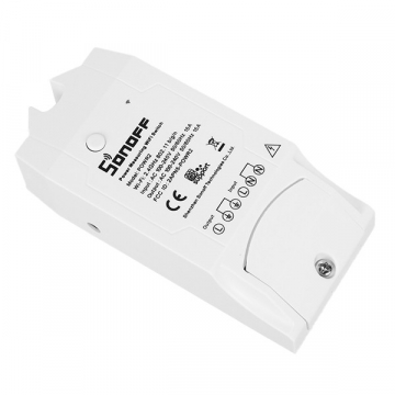 SONOFF POW R2 Wireless Remote Control Switch Smart Home Power Monitor Current Tester – Ασύρματος Έξυπνος Διακόπτης Μετρητής Τάσης Ρεύματος και Κατανάλωσης WiFi 15 Ampere GloboStar 48461 (48461)