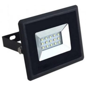 V-TAC LED Προβολέας E-Series SMD 10W Μαύρος Ψυχρό Λευκό 5942
