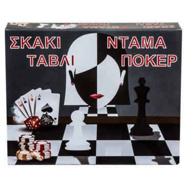 ΣΚΑΚΙ ΤΑΒΛΙ ΝΤΑΜΑ ΠΟΚΕΡ 29x24cm ToyMarkt 891498 (69-1478)