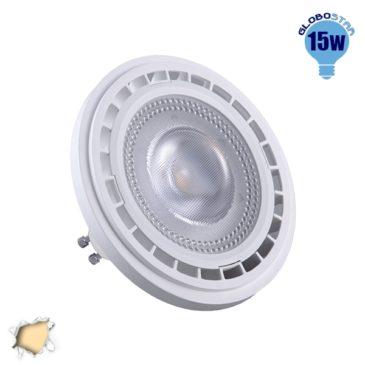 Λάμπα LED AR111 GU10 Σποτ 15W 230V 1460lm 12° Θερμό Λευκό 3000k GloboStar 01768