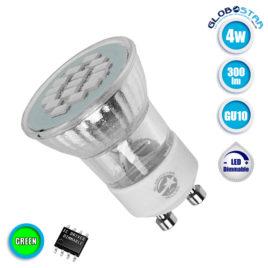 Λάμπα LED Σποτ M35 GU10 4W 230V 300lm 120° Πράσινο GloboStar 90604