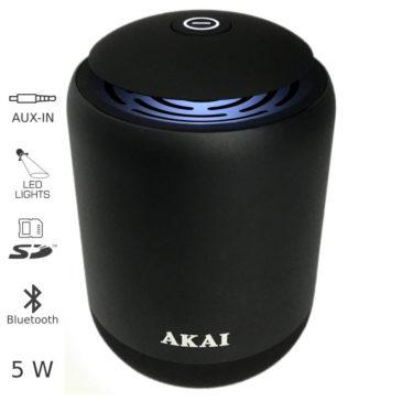 AKAI ABTS-S4 ΜΕΤΑΛΛΙΚΟ ΗΧΕΙΟ BLUETOOTH ΜΕ LED, USB, SD ΚΑΙ AUX – 5W (110582-0032)