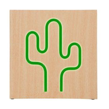 BIGBEN ηχείο Cactus Neon, 15W, bluetooth, ξύλο (BTNEONINDUCACTL)