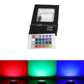 LED Προβολέας RGB dimmable 20W Αδιάβροχος IP66 (LED20WRGB-M)