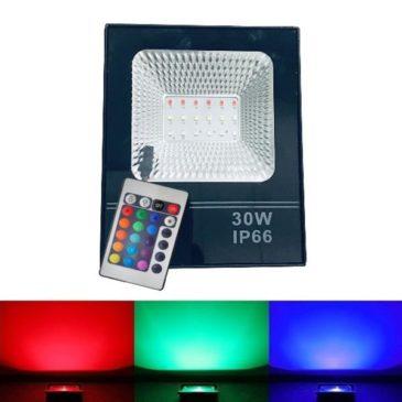LED Προβολέας RGB dimmable 30W Αδιάβροχος IP66 (LED30WRGB-M)