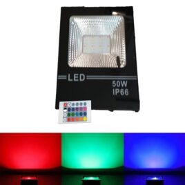 LED Προβολέας RGB dimmable 50W Αδιάβροχος IP66 (LED50WRGB-M)