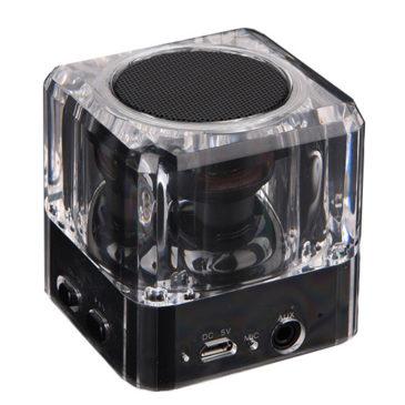 POWERTECH Bluetooth Speaker PT-404, Portable, 3W, Led Light, Black (PT-404)